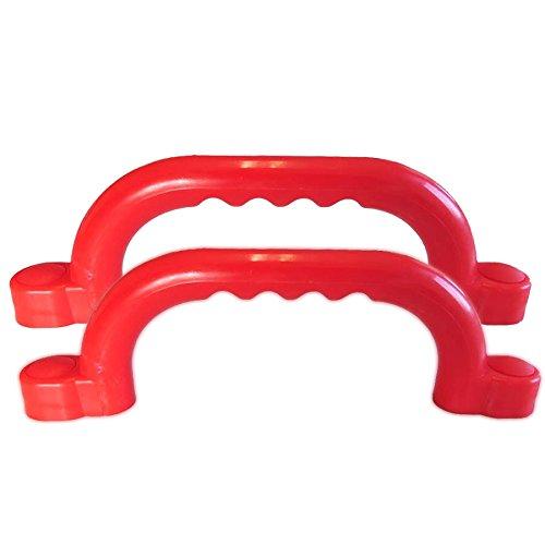 Haltegriffe rot Zubehör Spielanlagen Set mit 2 Handgriffe für Kinder von Gartenpirat®