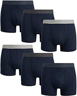 Lucky Brand Men's Super Soft Boxer Briefs (6 Pack), Size Medium, All Blues from