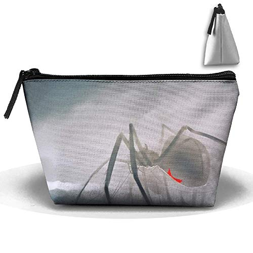 Pintura de araña Negra, Bolsa de artículos de tocador trapezoidales para Almacenamiento de Monedas de teléfono portátil, Viaje de Maquillaje, Bolsa de Lavado de cosméticos