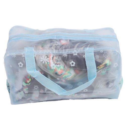 Trousse de Toilette Pochette Sac de Voyage Maquillage Rangement Cosmétique Bain Sac de Voyage Portable (Bleu)