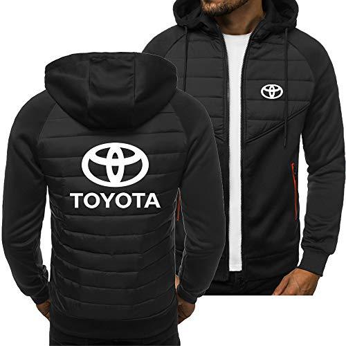 CONVERMPU Hoodies Chaqueta Cárdigan Delgado To.Y.o-Ta Impresión Casual Hombres Niños Juventud Sweatshirt Parte Superior/Negro/XL