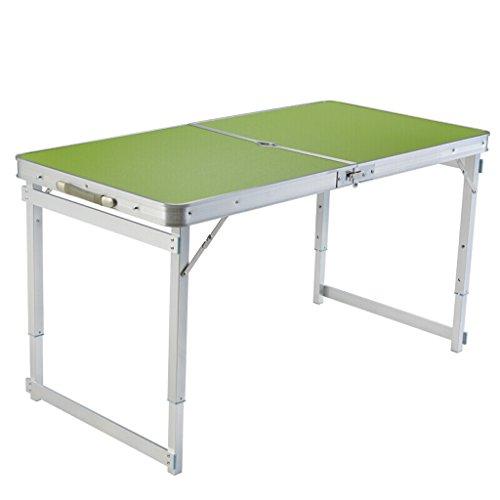 TMY Alliage d'aluminium de Table Pliante extérieure réglable de Taille de Tableau portatif pour Le Camping de Plage de Barbecue de Plage (Color : Green, Taille : 120 * 60CM*75CM)