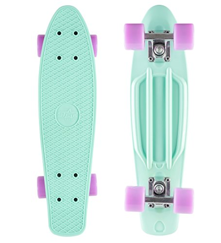 Star- Skateboards Vintage Cruiser Board # 22S Diamond Class Edition # Creamy Turquoise & Candy Purple