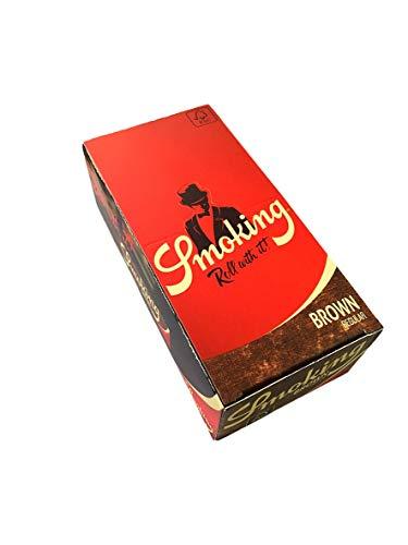 smoking [スモーキング]ブラウン シングル(70mm) ペーパー 60枚入り×50ブックレット(1箱) 手巻きタバコ 巻紙