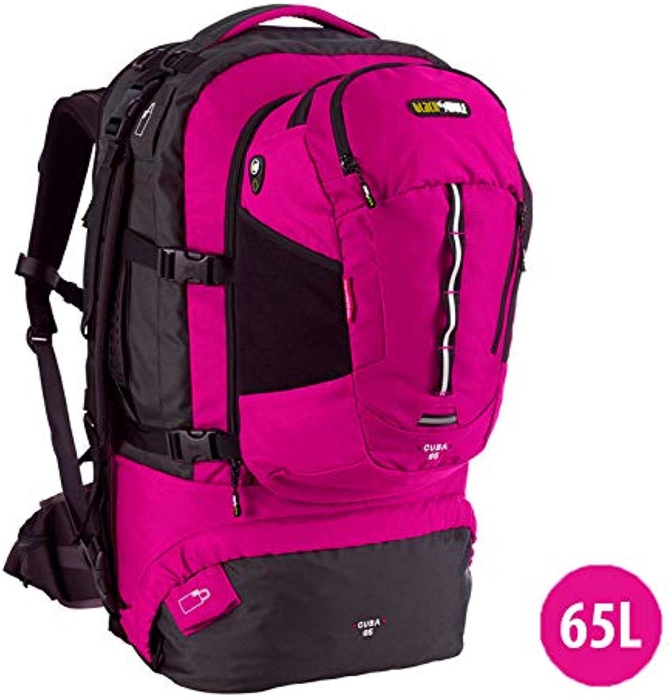 BlackWolf  Cuba 65L Hiking Backpack Travel Bag UPDATED  Magenta