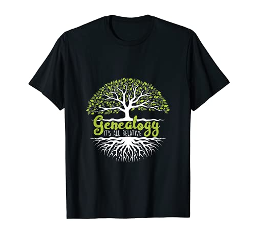 Genealogist Genealogy Ancestry Roots Family Tree History T-Shirt