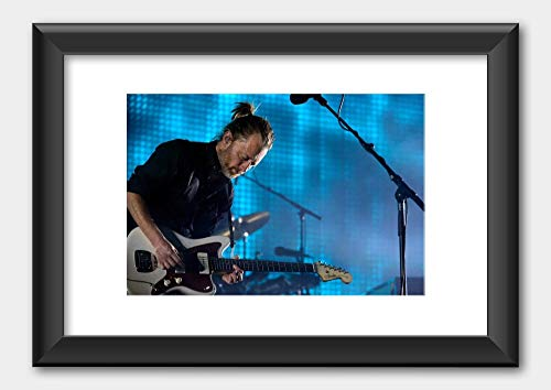 Radiohead - Thom Yorke Rod Laver Arena 2012 Poster 8 Black Frame 29.7x42cm (A3) White