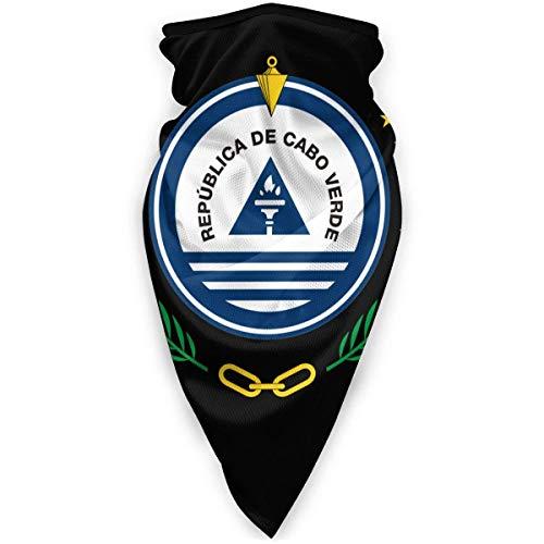 National Emblem of Cape Verde Neck Gaiter Warmer Winddicht Gesichtsmaske Schal Outdoor Maskhead Schal