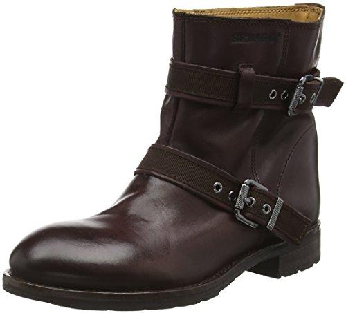 Sebago Damen Laney Mid Biker Boots, Rot (Burgundy Leather), 40.5 EU