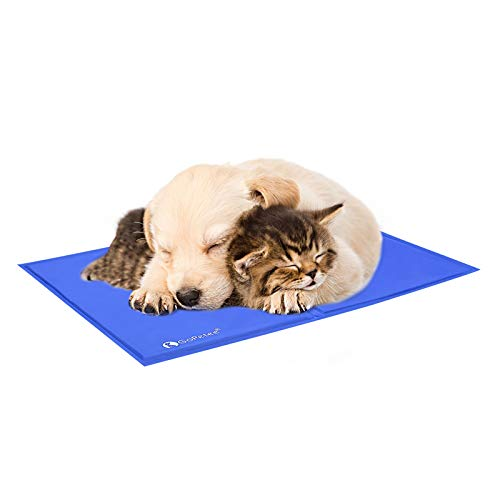 GoPetee Alfombrilla refrescante para Mascotas Cama de Perro y Gato para Verano Animales Manta de Dormir Fresco Cojín,50*65cm