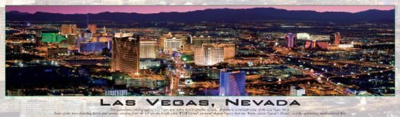 Buffalo giocos Panoramic, Las Vegas Glow in the Dark - 750pc Jigsaw Puzzle by Buffalo giocos