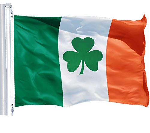 G128 – Irish Flag (Shamrock) | 3x5 feet | 150D Printed Polyester – Indoor/Outdoor, Quality Polyester, Brass Grommets