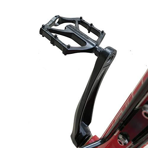 DUNRU Pedali MTB 1pair Mountain Bike Pedale Leggera Lega di Alluminio Pedali Cuscinetto for BMX Strada MTB della Bicicletta Accessori Biciclette Pedali Bicicletta (Color : Black)
