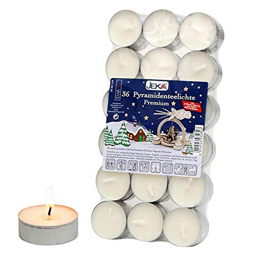 Unbekannt Sigro 36-teilig, Pyramid groß Flame Teelichter Kerzen mit Aluminium Auslauf, Wachs, Silber, 4x 4x 1,3cm