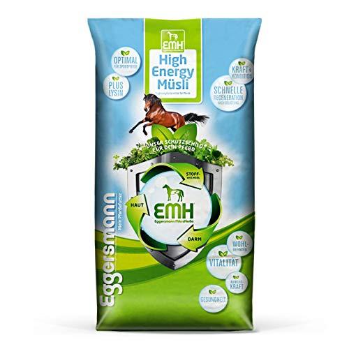 Eggersmann EMH High Energie Müsli – Pferdemüsli für Sport- und Hochleistungspferde – Spezialmüsli mit Lysin – 20 kg Sack