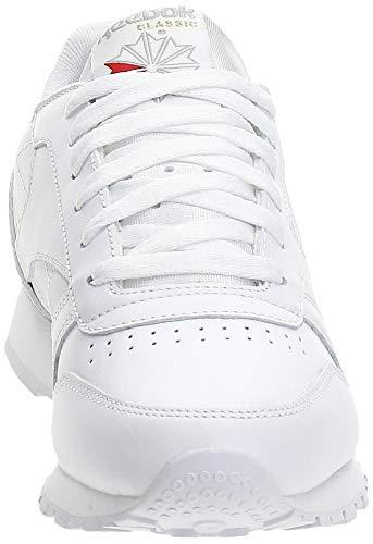 Reebok Classic Leather, Sneackers para Mujer, color Blanco, talla 41 EU / 7.5 UK / 10 US