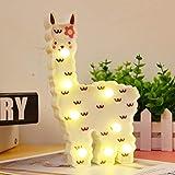 WHATOOK Luz nocturna de llama, regalo para niños, luz de noche de alpaca, luces LED, decoración de llama, decoración de pared para habitación de niñas, mesita de noche, hogar (nube de llama blanca)