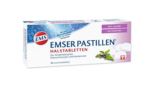 EMSER Pastillen Halstabletten mit Salbei zuckerfrei, 30 St. Tabletten