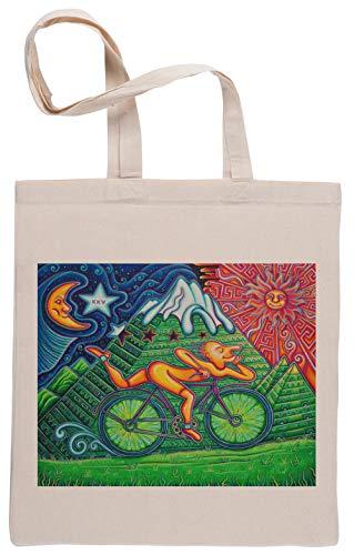 Bicicleta Día Bolsa De Compras Shopping Bag Beige