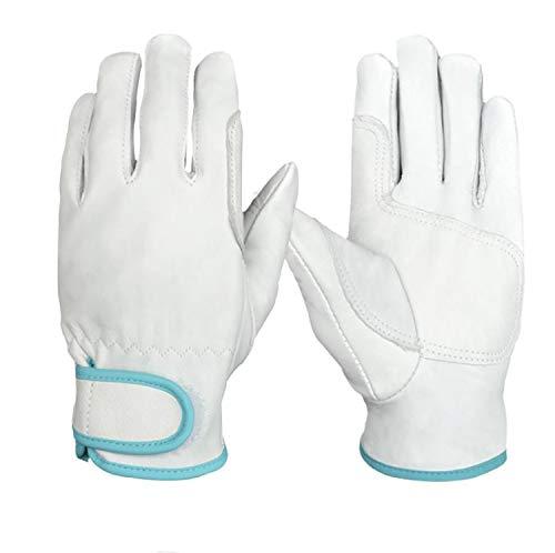 ZMYY - Guantes de trabajo para hombres y mujeres, guantes de cuero ligeros y duraderos, perfectos para mecánicos, embalaje, almacén de jardinería, 1 par (M)