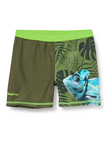 Playshoes Jungen Chamäleon Badehose, Oliv, 122/128