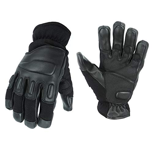 TacFirst Allrounder II Taktische Einsatzhandschuhe, Schnitthemmende Polizei, BW, SEK, Security Handschuhe (XL, Schwarz)