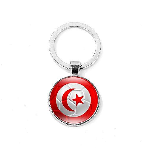Llavero Patrón De Fútbol De La Novedad Túnez/Inglaterra