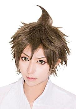 Cfalaicos Short Layered Danganronpa Hajime Hinata Cosplay Wig