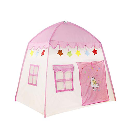 Childrens Tent, Folding Kids Tent Van De Baby Play House Indoor Ball Pool Speelgoed Game House Roze Blauw, Huis Prinses Verjaardagscadeau Play Tent Kids,Pink