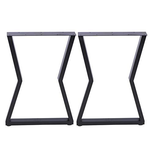 Patas de mesa, 2 patas de muebles industriales, rústicos, de hierro, para mesa de café, patas de mesa de comedor, patas de acero, para bricolaje, muebles de oficina