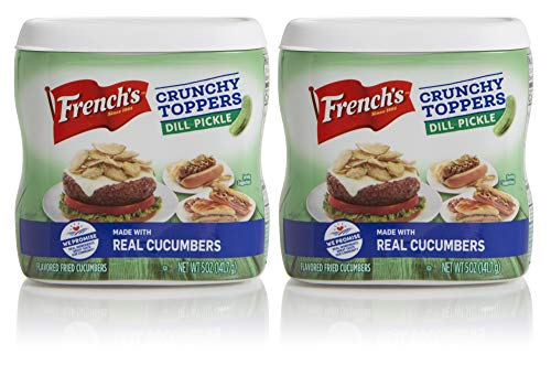 French's Dill Pickle Crunchy Toppers, Certified Kosher, Made in the USA, 5 oz (Pack of 2)
