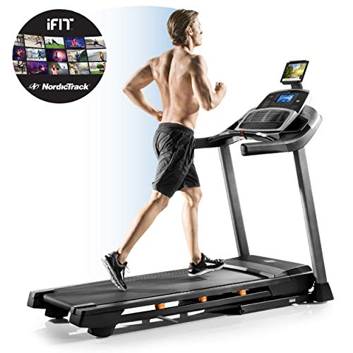 Nordictrack Unisex's T10.0 Treadmill, Grey/Black/Orange, One Size