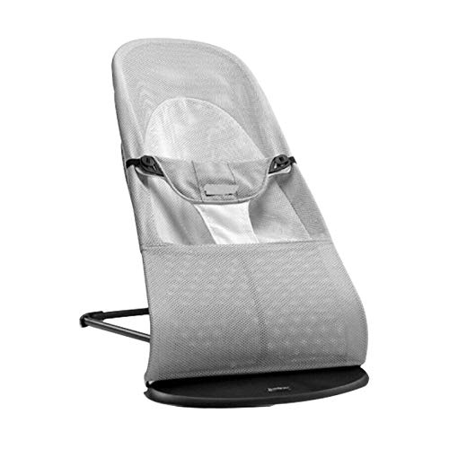 Shoze Foldable Infant Chair Rocking Seat Portable Baby Chair or Seat Balance Soft Bouncer Gift for Newborns Babies Gray