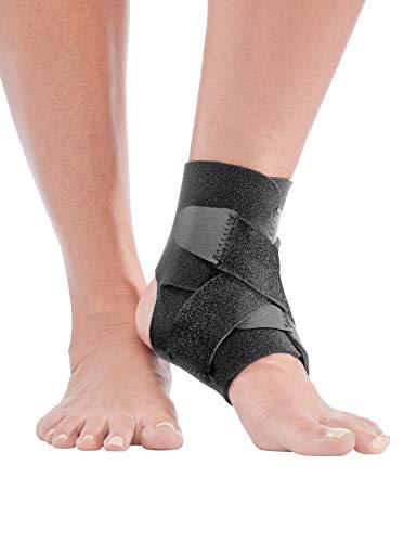 Mueller Adjustable Ankle Support, Black, One Size Fits Most