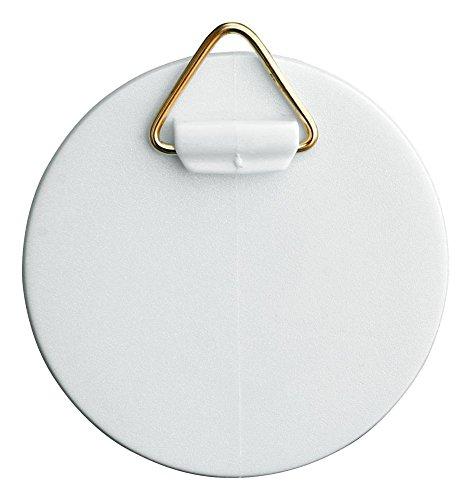 Home Xpert Selbstklebe-Aufhänger mit Messingöse, Kunststoff weiß Ø 62 mm