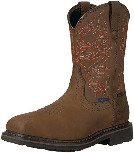 Ariat Work mens Sierra Delta Waterproof Steel Toe Work Boot, Distressed Brown, 10 D US