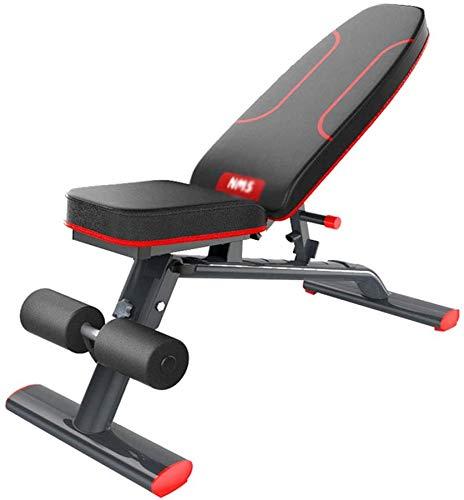 NOOYC Musculacion Interior, Banco Musculacion músculos Plegable Formación Fitness Silla Peso Multifuncional Abdominales Siéntese Banco para el Cuerpo Completo Ejercicios Entrenamiento,-_-