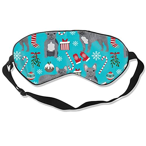 Bull Dog - Máscara de dormir para hombres y mujeres, máscara de dormir y vendados para bloquear los ojos con luz suave y cómoda cubierta de sombra de ojos para yoga y meditación