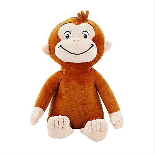 BYSTE9 Peluches, Scimmia Peluche, Bambola Curioso Scimmia di Peluche, Regali per Bambini 30 cm