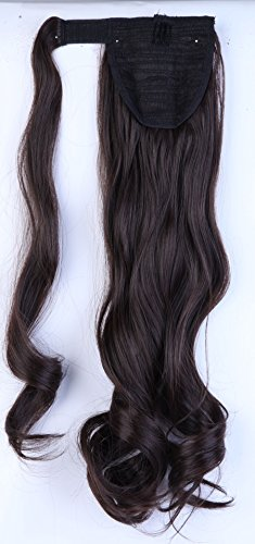 24 clip in hair extension pour Femme - Marron fonce