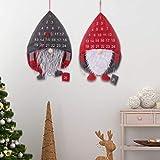 RTUTUR クリスマスアドベントカウントダウンカレンダースウェーデンGnomeのサンタクリスマスツリーのデコレーション24.41x15.75in (Color : Grey)
