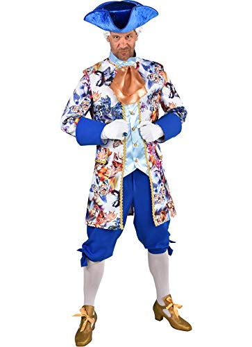 M219269-M bunt-blau Butterfly Herren Rokoko Anzug Kostüm Marquis Prinz Gr.M=52