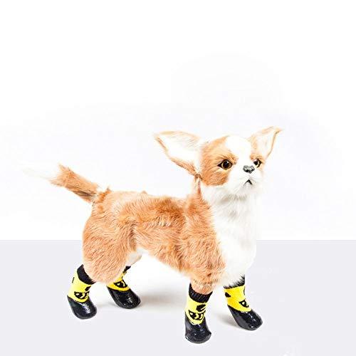 BXGZXYQ Calcetines para Mascotas, Zapatos Antideslizantes para Perros, Zapatos Impermeables, Golden Retriever, Calcetines Impermeables (Color : Yellow, Size : 6#)
