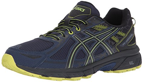 ASICS Men's Gel-Venture 6 Running Shoe, Indigo Blue/Black/Energy Green, 10 Medium US