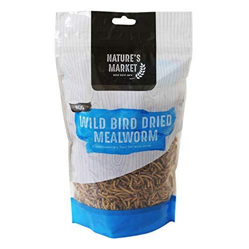 garden mile® 80g Premium Dried Mealworms Natural Bird Food Nutritious Meal...