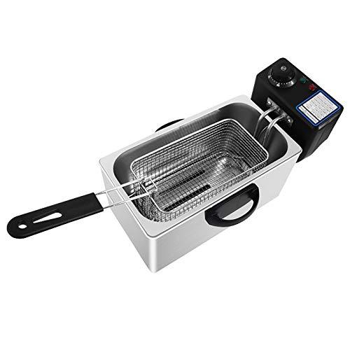 7L Freidora profunda comercial eléctrica, acero inoxidable Fryer de grasa profunda comercial eléctrica, para el hogar Restaurante French Fries Pollo