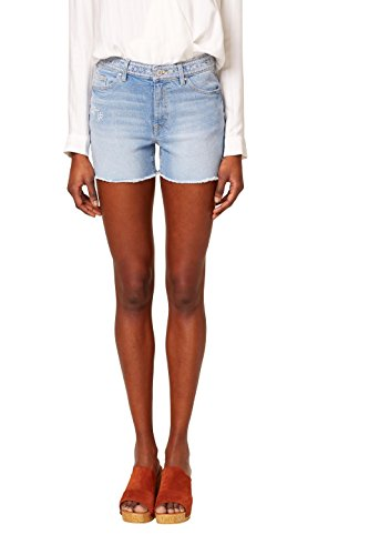edc by ESPRIT Damen Shorts 048CC1C012, Blau (Blue Light Wash 903), W31