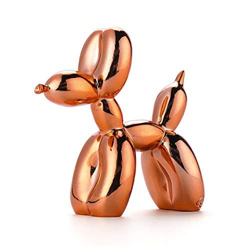 FGHHJ Ornamenti Statue Decorativi Shiny Balloon Dog Abstract Crafts Resin Statue Home Decor Art Sculpture Home Decoration Accessories Orange 10 X 4Cm
