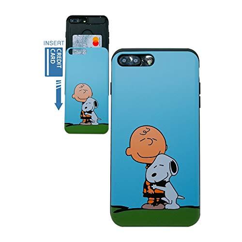 Kubrick Peanuts Snoopy Slide Bumper Handyhülle für iPhone 7 Plus, Charlie Brown & Snoopy