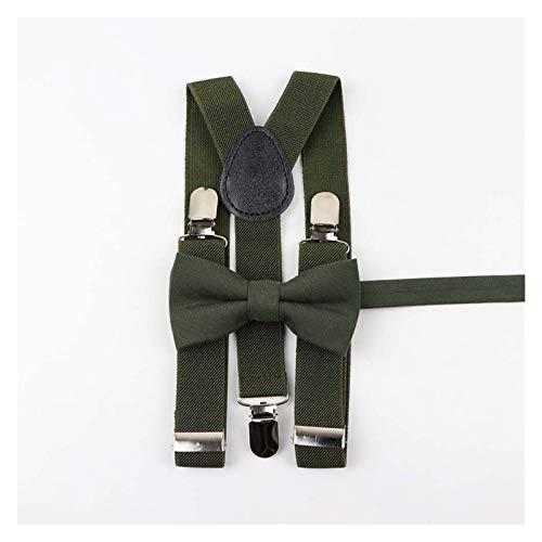 XMCF Tirantes para Hombre Padre-niño Soild Suspenders Colorido Pulseras Bowtie Set Sunny Y-Back Spings Soft Algodón Cinturón Blanco Cinturón Azazo Accesorio Ajustable Adjustable Elastics Clips